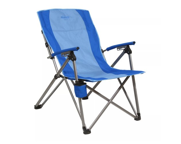 Kamp-Rite Reclining Hard Arm Camp Folding Chair in blue