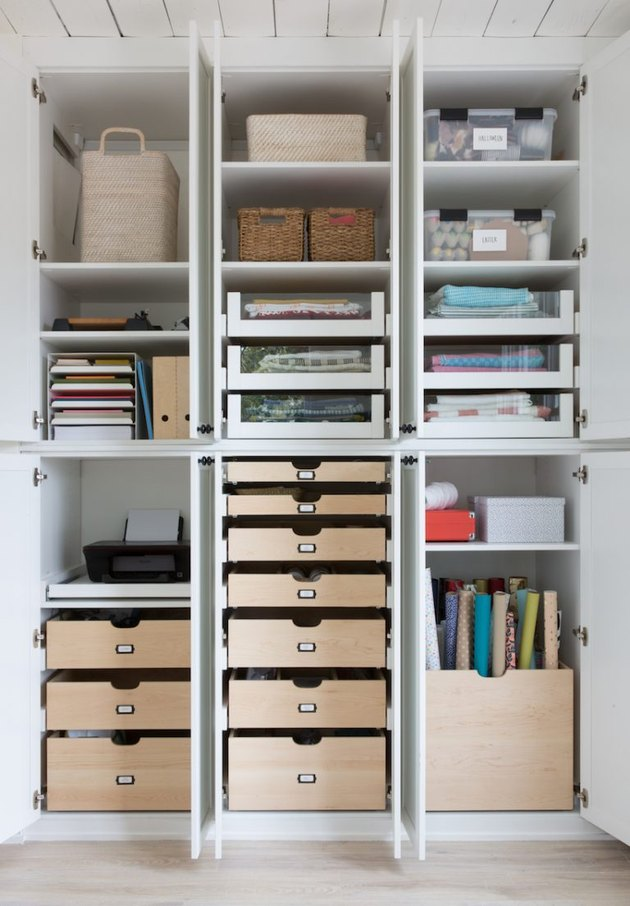 home office customized cupboard storage with Home Office Storage Ideas