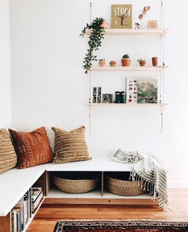 home office seating with storage underneath with Home Office Storage Ideas