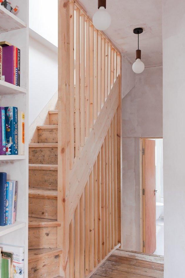 pine staircase