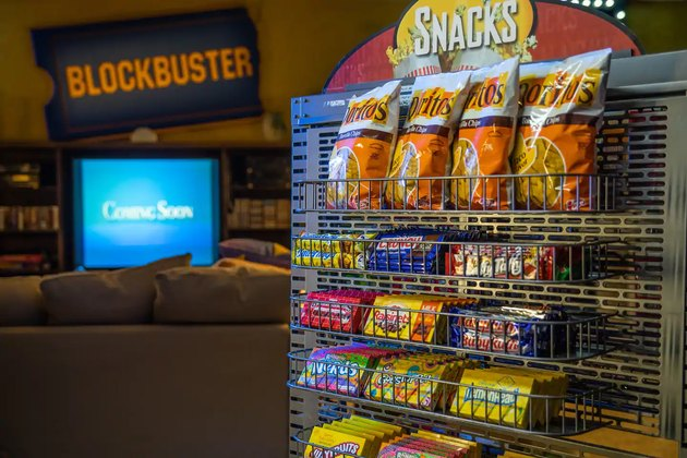 blockbuster store with snack rack