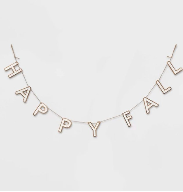 happy fall wood letters banner