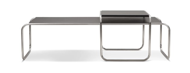 bauhaus furniture style coffee table with metal legs