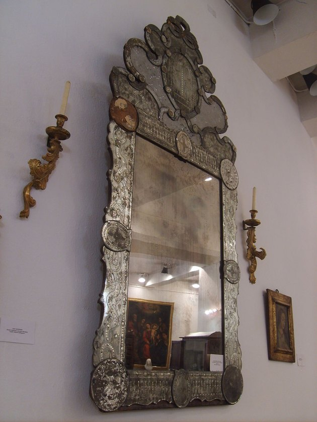 A Venetian mirror with Chinese motifs from the 17th century