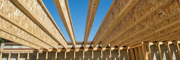 House floor joists.