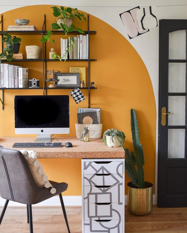 budget home office with upcycled furniture Home Office Ideas on a Budget