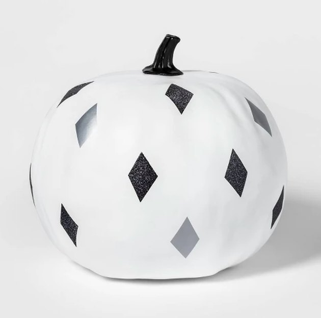 diamond patterned pumpkin