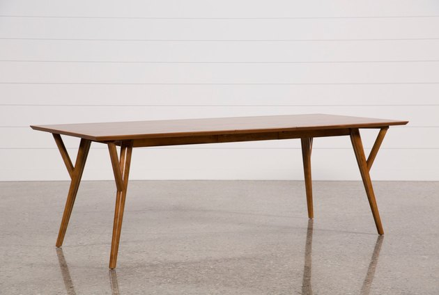 Wooden rectangular mid-century dining table