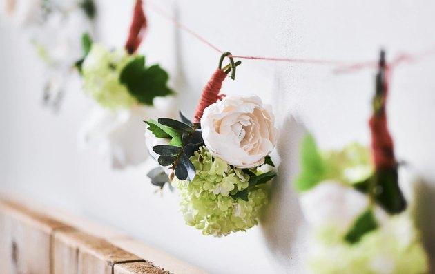 diy artificial floral garland IKEA hack for wedding