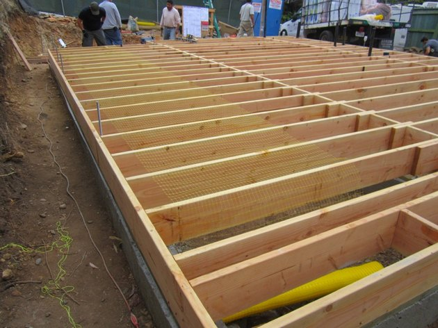 House floor frame