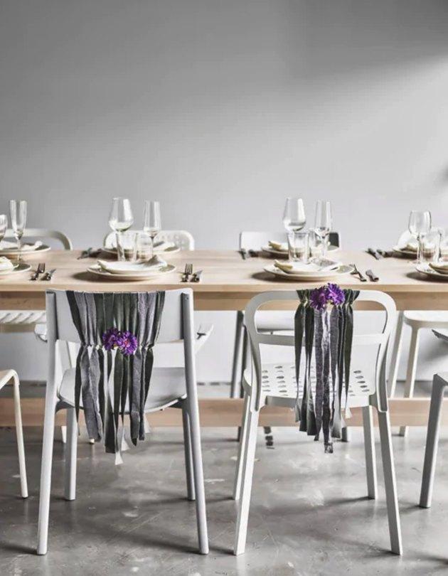 diy wedding chair decoration IKEA hack