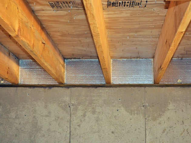 Insulated rim joist.