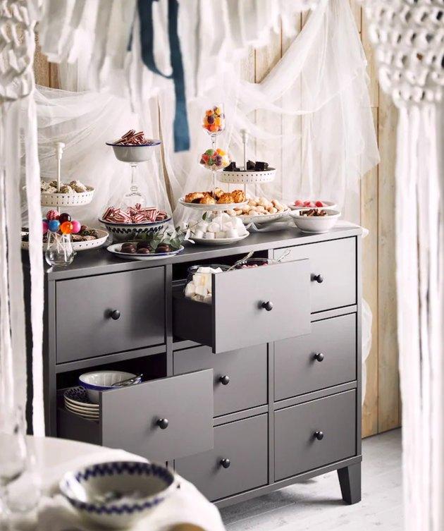 diy wedding candy bar IKEA hack