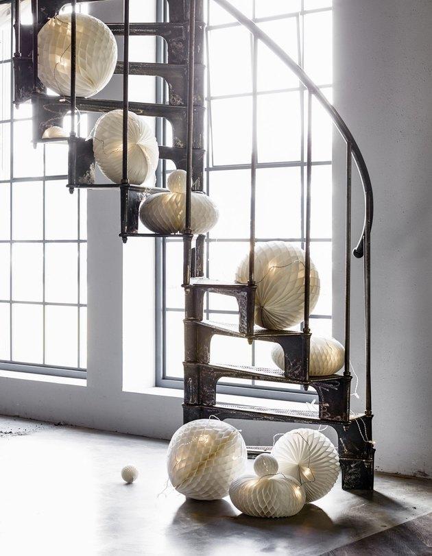 diy wedding paper lantern decor IKEA hack