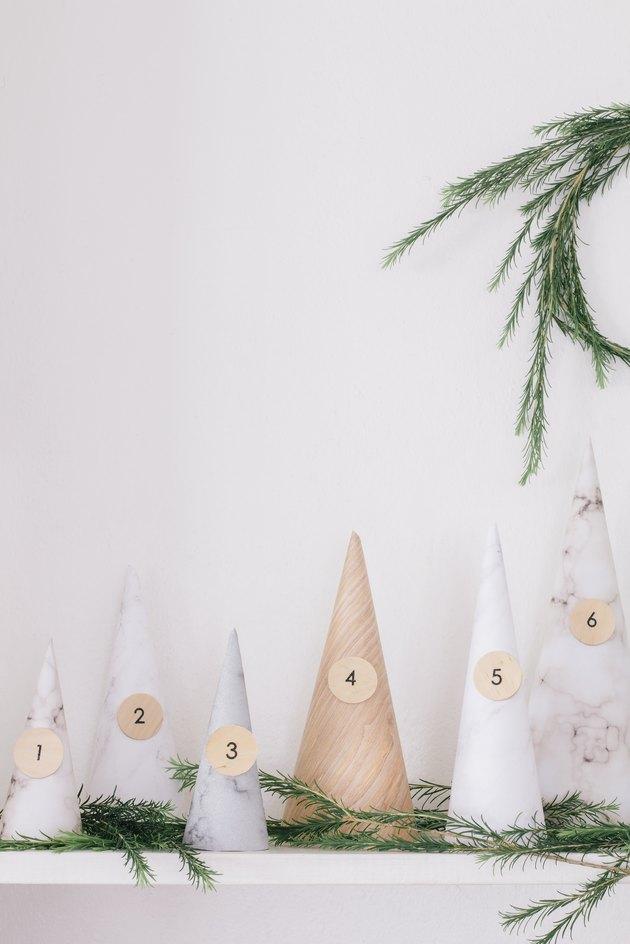 DIY paper cone advent calendar