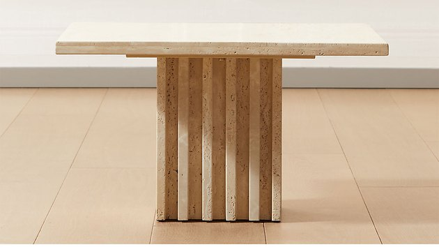 travertine cocktail table
