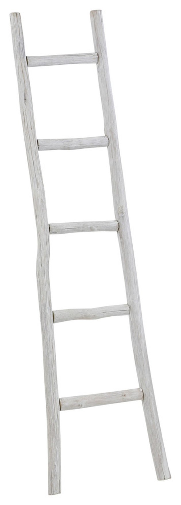 Wooden white decorative ladder