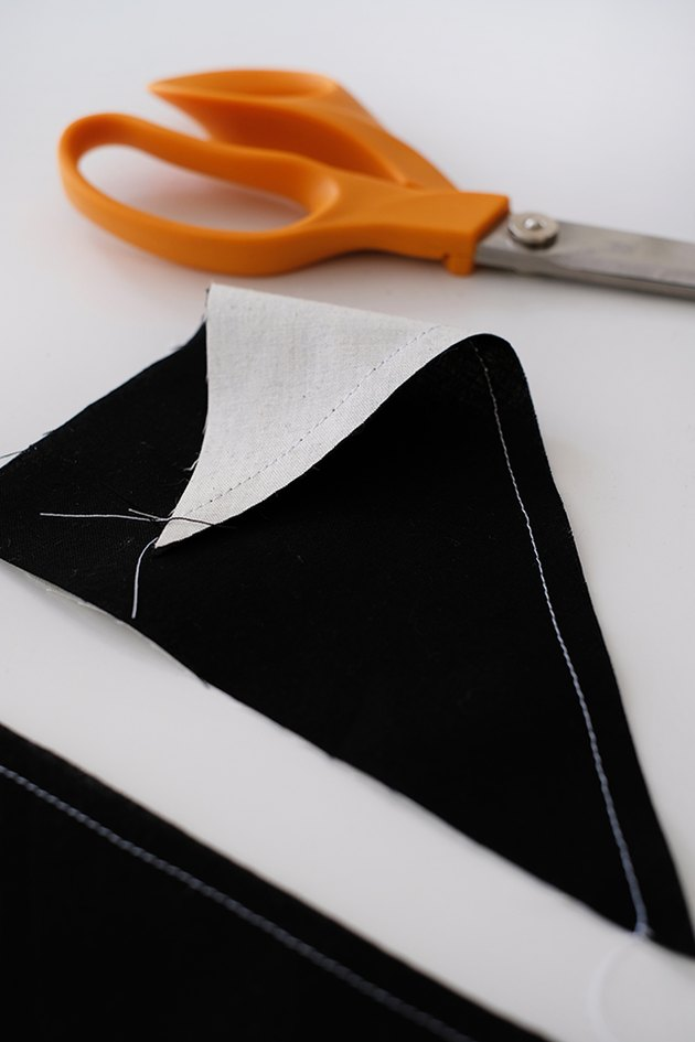 Sew the good sides of the fabric together.