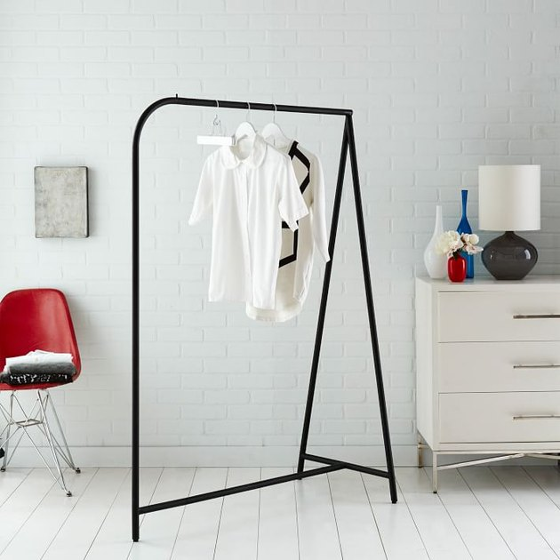 Simple black clothing rack
