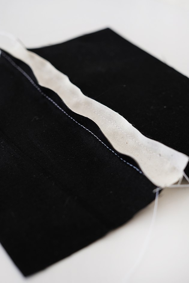 "sew the good sides of the fabric together with a 1/4 "" seam allowance."