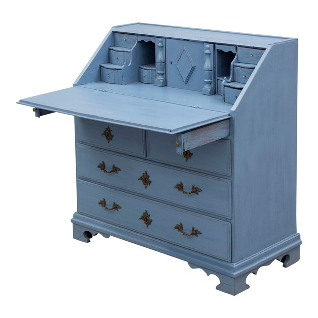 powder blue secretary desk