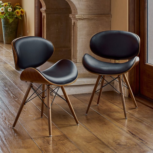 Corvus Walnut Mid-Century Accent Chair