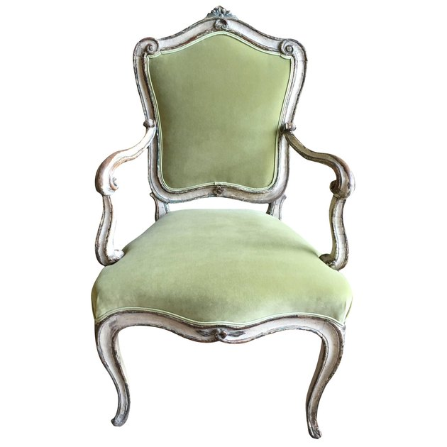green neoclassical chair