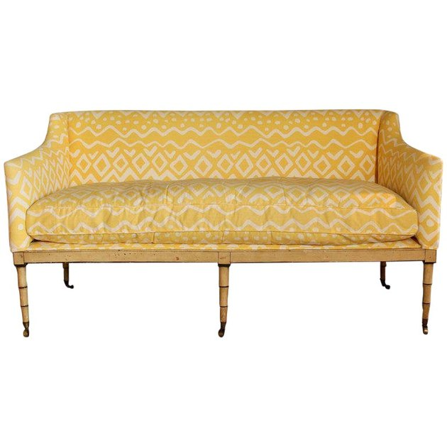 vintage yellow sofa