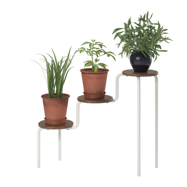 three-tier planter stand