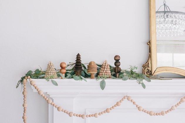 DIY mini wood Christmas trees