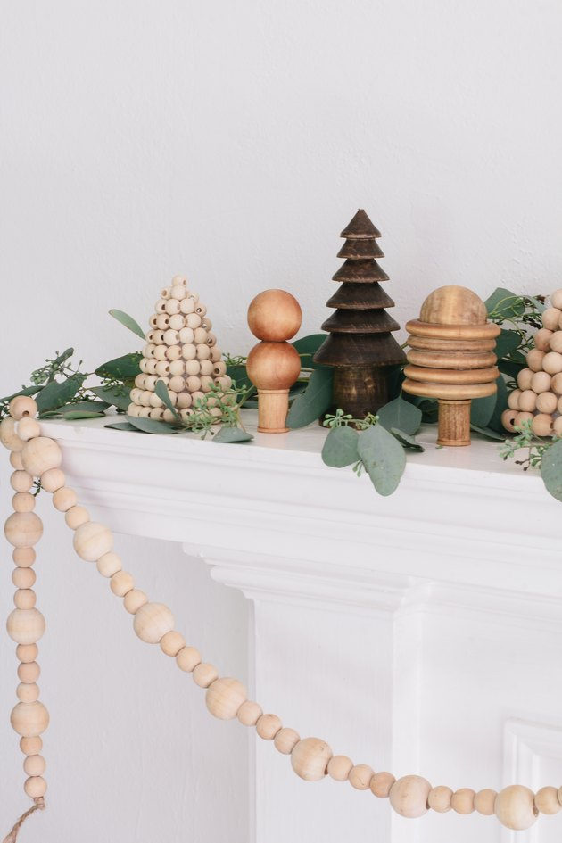 DIY wood bead trees