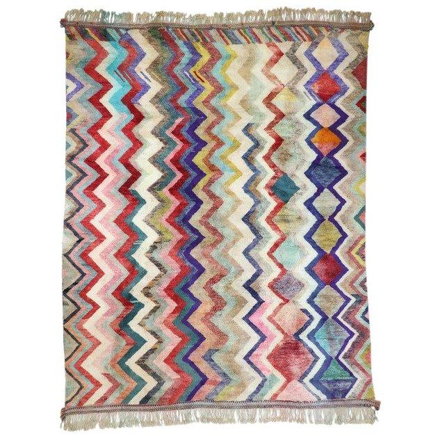 zig-zag pattern rug