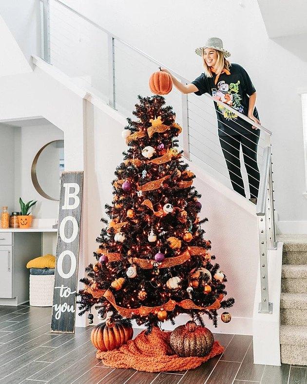 Christmas Tree Themes with halloween decor