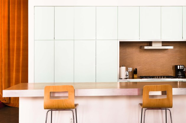 The minimalist kitchen in Hotel Kim Sing