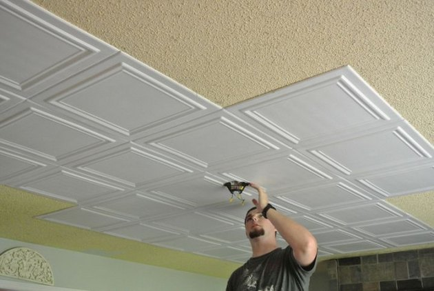 Styrofoam ceiling tiles.