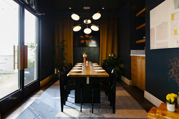 A private dining room at Canon, a restaurant in East Sacramento