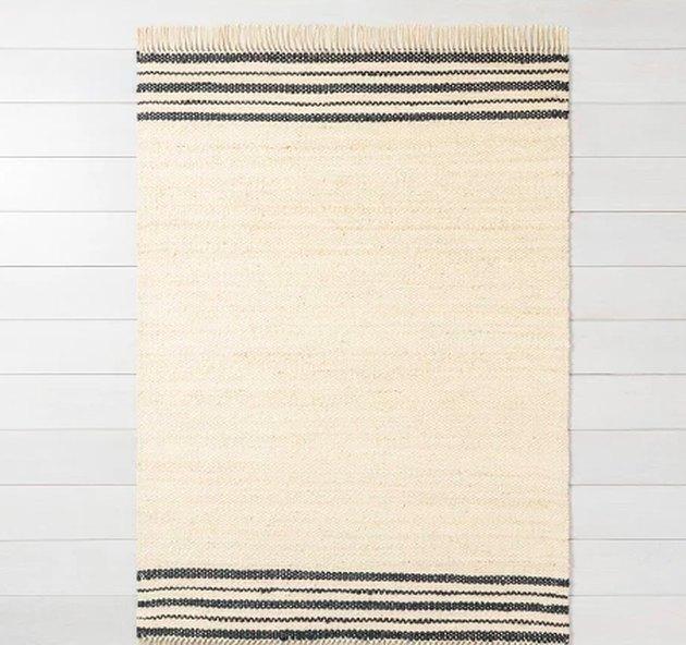 jute striped rug