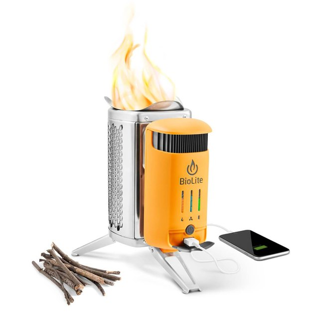 camp stove and charger