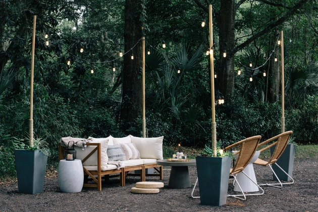 diy string pole lights