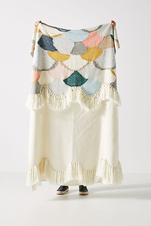 scalloped throw blanket