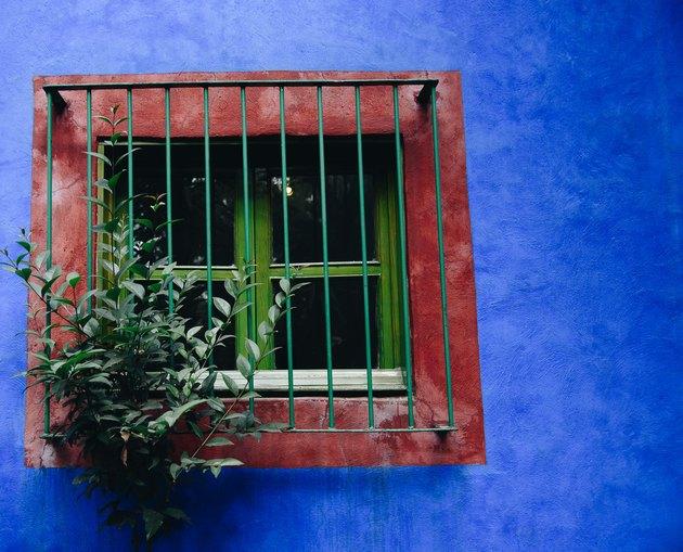 Exterior of La Casa Azul, or Museo Frida Kahlo