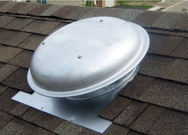 Roof attic fan.