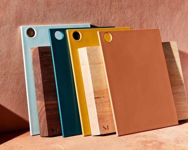 cutting boards in various colors