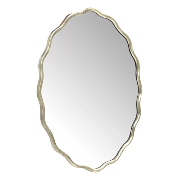 scalloped wavy mirror