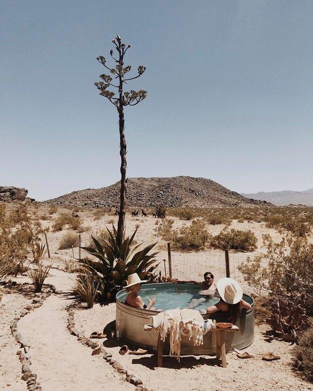 stock tank pool in the desert
