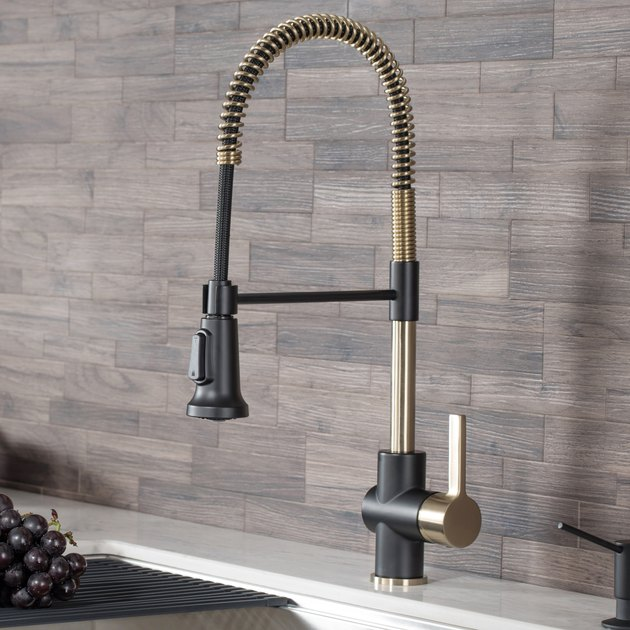 KRAUS Britt Single Handle Commercial Kitchen Faucet with Dual Function Sprayhead