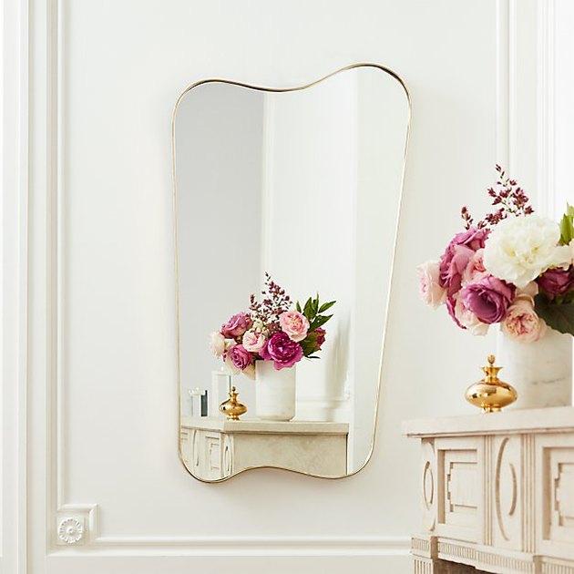mirror near flowers