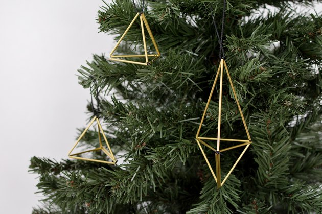 DIY Geometric Tree Ornaments