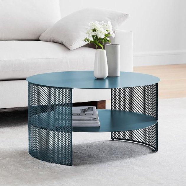 West Elm Perforated Metal Coffee Table, $399