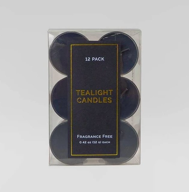 pack of black tea light candles